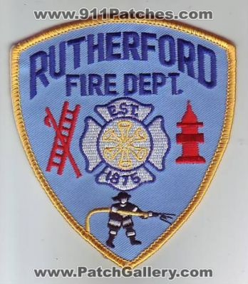 Rutherford Fire Dept Patch New Jersey Patches NJF